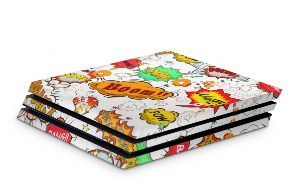 Playstation 4 Pro Skin Design Sticker für PS4 Pro - Comics White